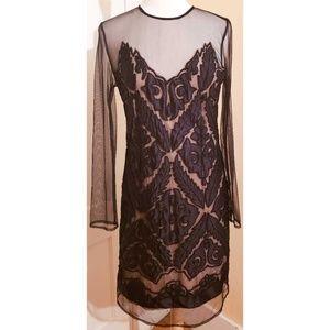 Anthropologie Yoanna Baraschi Black Beaded Dress